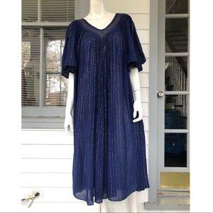 Vintage 70's Indigo Dress